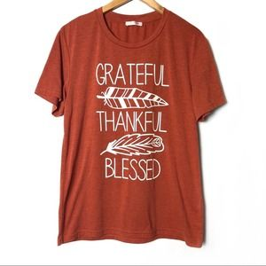 Grateful Thankful Blessed T-Shirt Fall Vibes Top